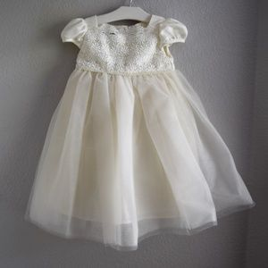 Biscotti Collezioni 3T Formal Dress Cream Lace